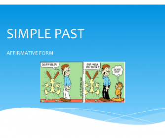 Simple Past Regular Verbs Affirmative Form