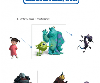 Movie Worksheet: Monsters, inc