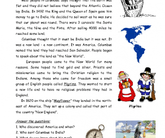 Movie Worksheet: The Discovery of America