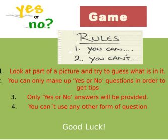 Yes/No Answers: What´s This? (Game)