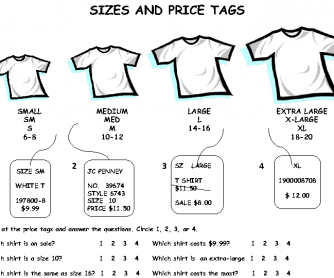 Clothing: Sizes and Price Tags