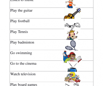 Sports and Hobbies Matching Game