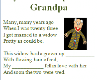 Song Worksheet: I'm My Own Grandpa by Ray Stevens