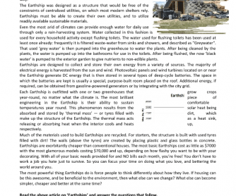 Reading Comprehension - Earthships