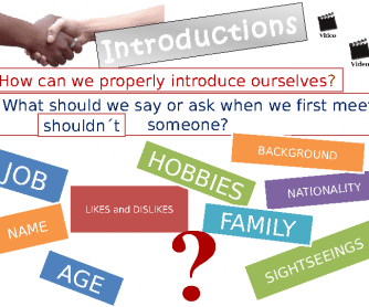 Introductions: How Can We Properly Introduce Ourselves?