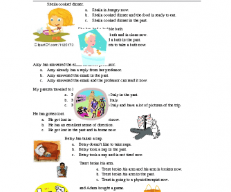 Present Perfect for Results Extra Practice