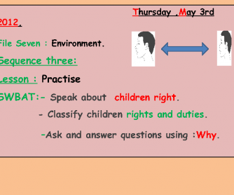 Children Rights and Duties