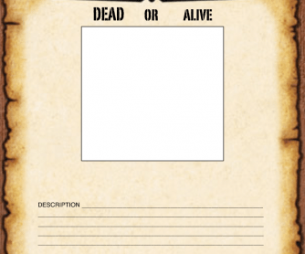 Blank Wanted Poster Paper Wanted Poster