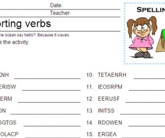 Reporting Verbs Scramble