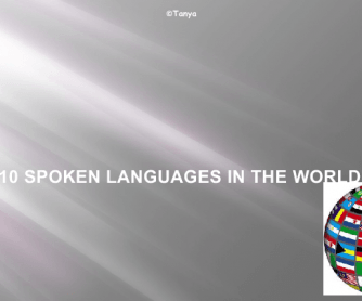 Top 10 Spoken Languages