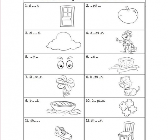 Fun Worksheet on Spelling