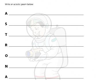Acrostic Poem - Astronaut