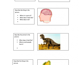 Speaking Activity Flash/Cue Card - Intermediate