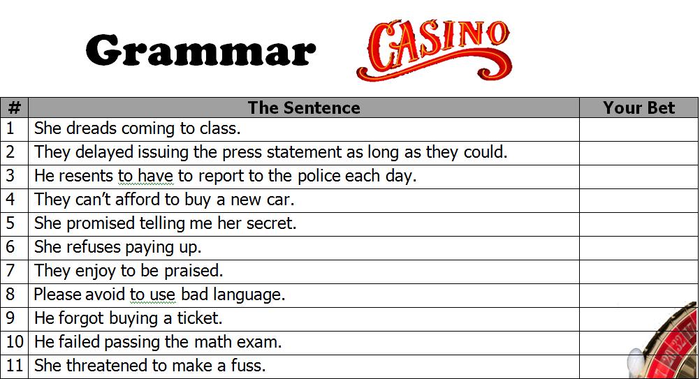 Grammar casino compulsive gambling intervention treatment