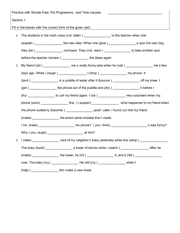 12 FREE Adverb Clauses Worksheets – Adverb Clauses Worksheet