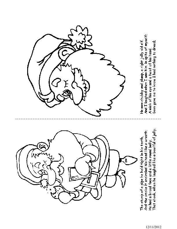 Twas the Night before Christmas Coloring Book Pages 11-12