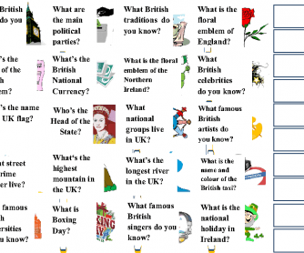 Great Britain Fact-File Cards Part 2