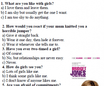 Bridget Jones' Characters Personality Test