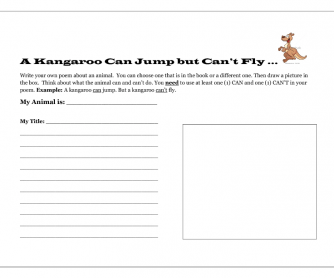 A Kangaroo Can Jump but It Can't Fly