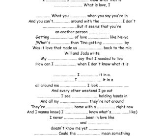 Song Worksheet: What's Love Like