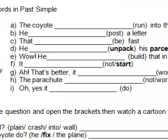 Movie Worksheet: Road Runner and Wile E Coyote - Just Plane Beep