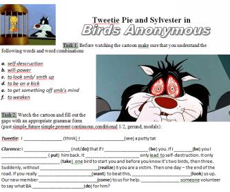 Movie Worksheet: Tweetie Pie - Birds Anonymous