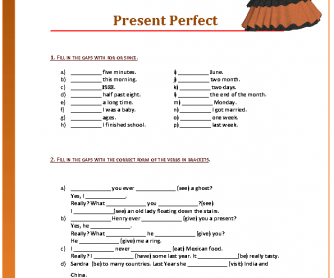 Present Perfect Revision Worksheet