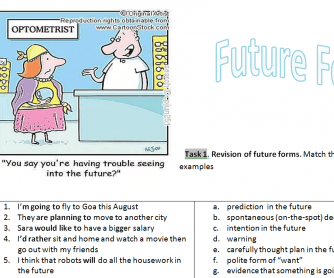 Future Forms Worksheet