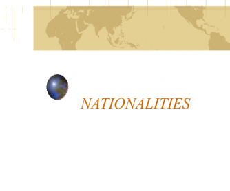 Countries and Nationalities PPT