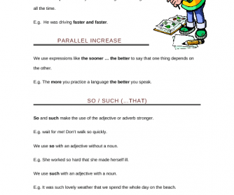 Gradual and Parallel Increase Worksheet