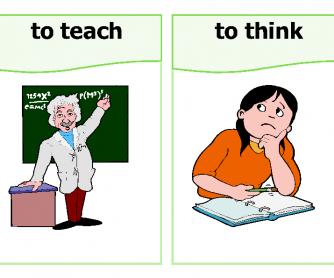 Classroom Verbs Flashcards