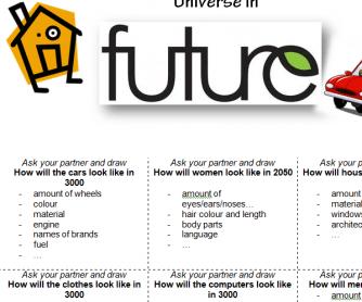 Universe in Future Speaking Activity