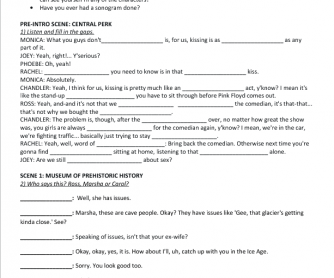 Movie Worksheet: Friends Season 1, Episode 2