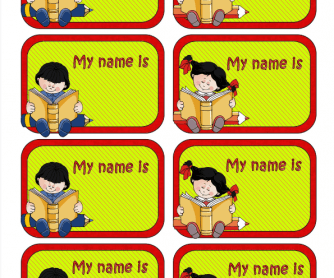 Back to School: Name Labels for Kids