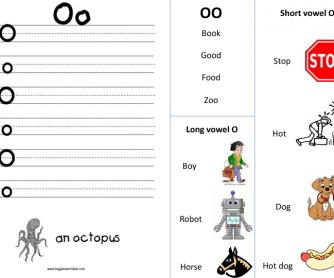Letter O Work Sheet