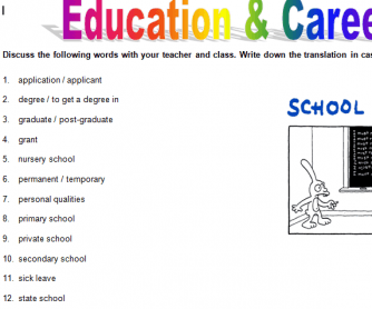 Education & Career Vocabulary