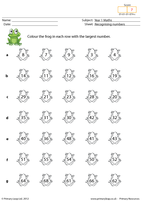 Recognising Numbers