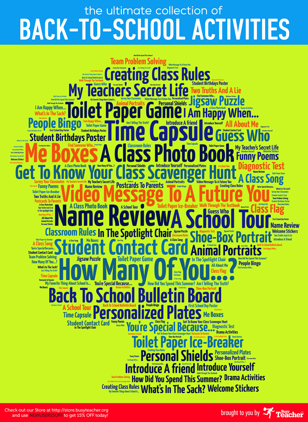 The Ultimate Collection of Back to School Activities: Poster