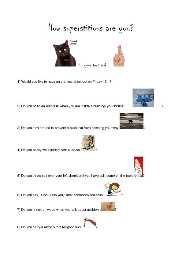 Superstition quiz