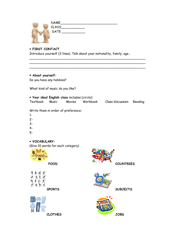 English level assessment test pdf