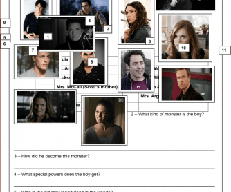 Movie Worksheet: Teen Wolf - TV Series