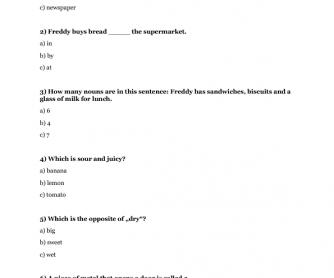 Elementary Quiz