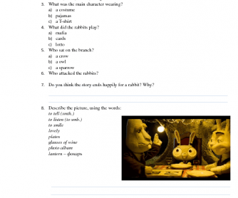Movie Worksheet: Out of a Forest