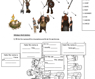 Movie Worksheet How to Train Your