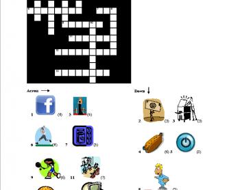 International English Words Crossword