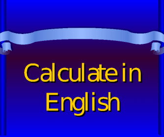 Numbers and Сalculation