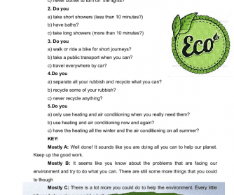 Ecology and Environment Quiz