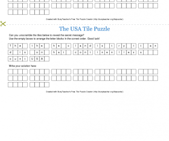 The USA Tile Puzzle