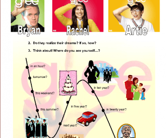 Movie Worksheet: Glee - Dreams (Future Tense)