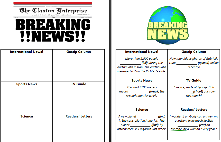 Free Worksheets article analysis worksheet : 39 FREE Newspaper English Worksheets